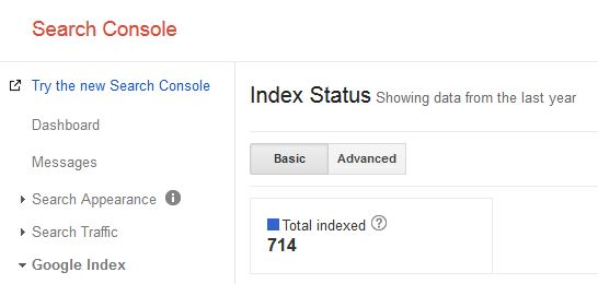 new search console